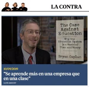 La contra de la vanguardia: entrevista profesor Caplan